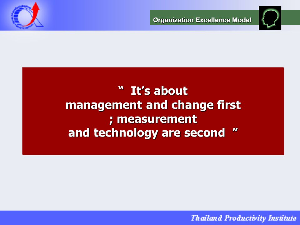 management and change first and technology are second