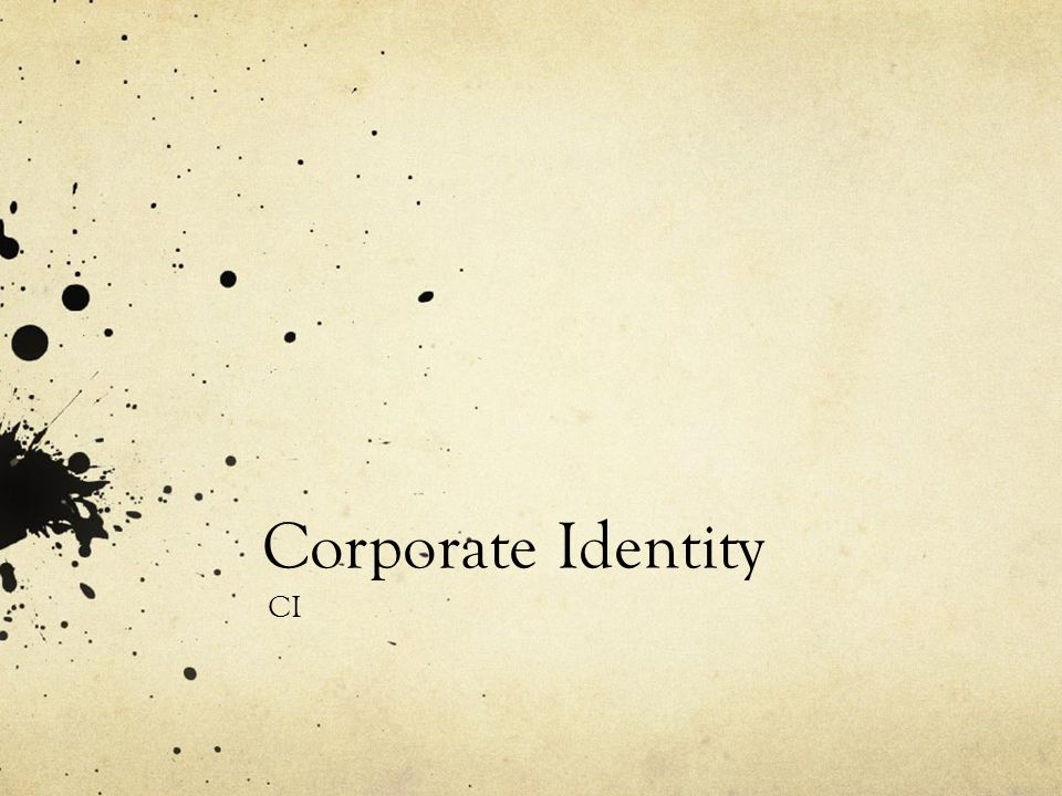 Corporate Identity CI