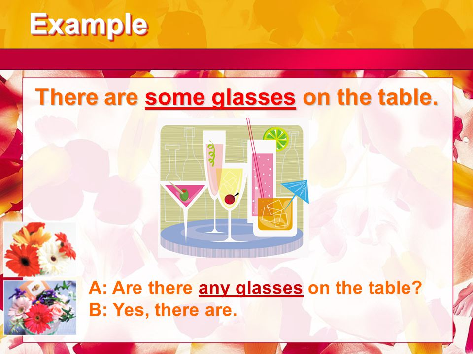 There are some glasses on the table.