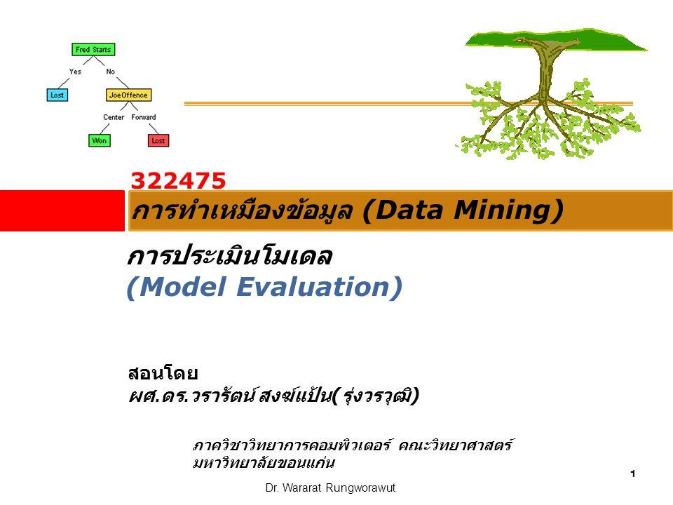 การทำเหมืองข้อมูล (Data Mining)