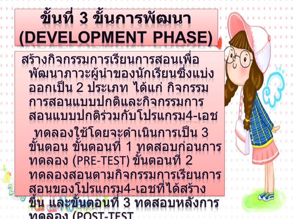 ขั้นที่ 3 ขั้นการพัฒนา (Development Phase)