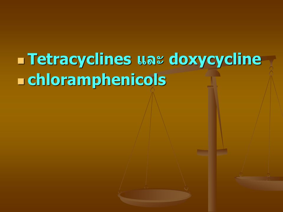Tetracyclines และ doxycycline