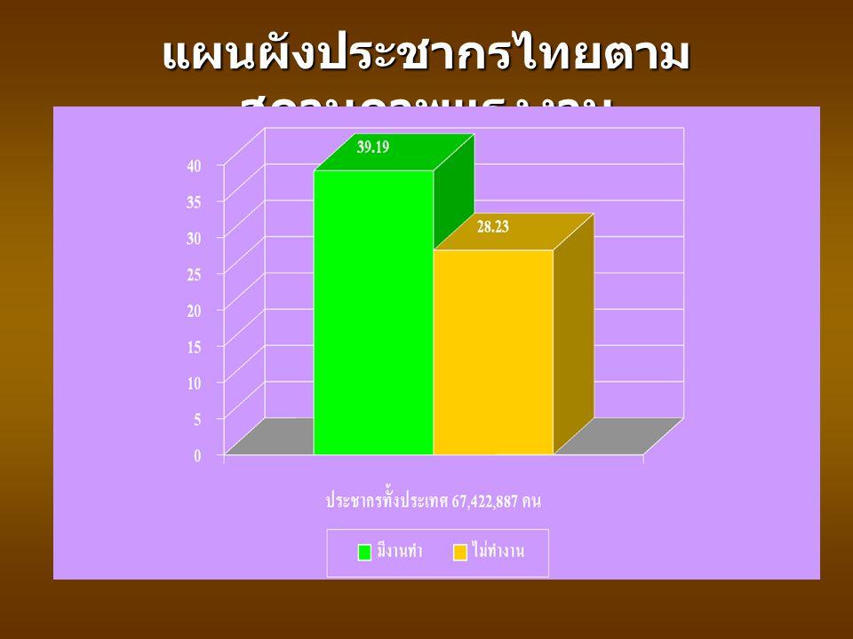 แผนผังประชากรไทยตามสถานภาพแรงงาน