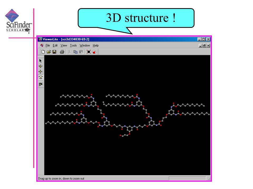 3D structure !