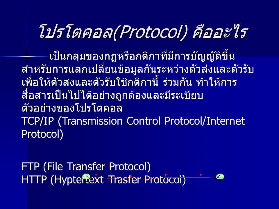 โปรโตคอล(Protocol) คืออะไร