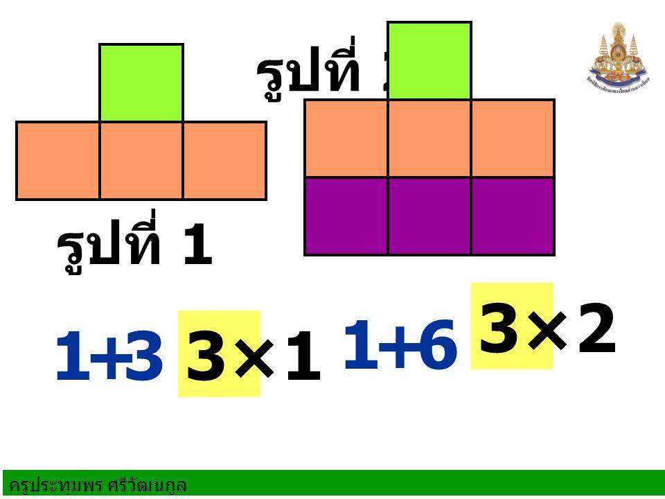 รูปที่ 2 รูปที่ 1 3×2 1 + 6 1 + 3 3×1