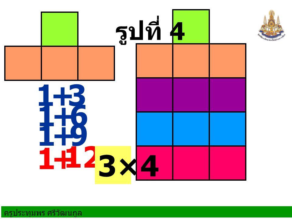 รูปที่ 4 1 + 3 1 + 6 1 + 9 1 + 12 3×4