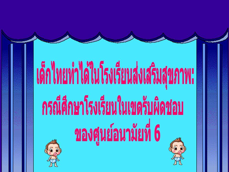 เด็กไทยทำได้ในโรงเรียนส่งเสริมสุขภาพ: กรณีศึกษาโรงเรียนในเขตรับผิดชอบ