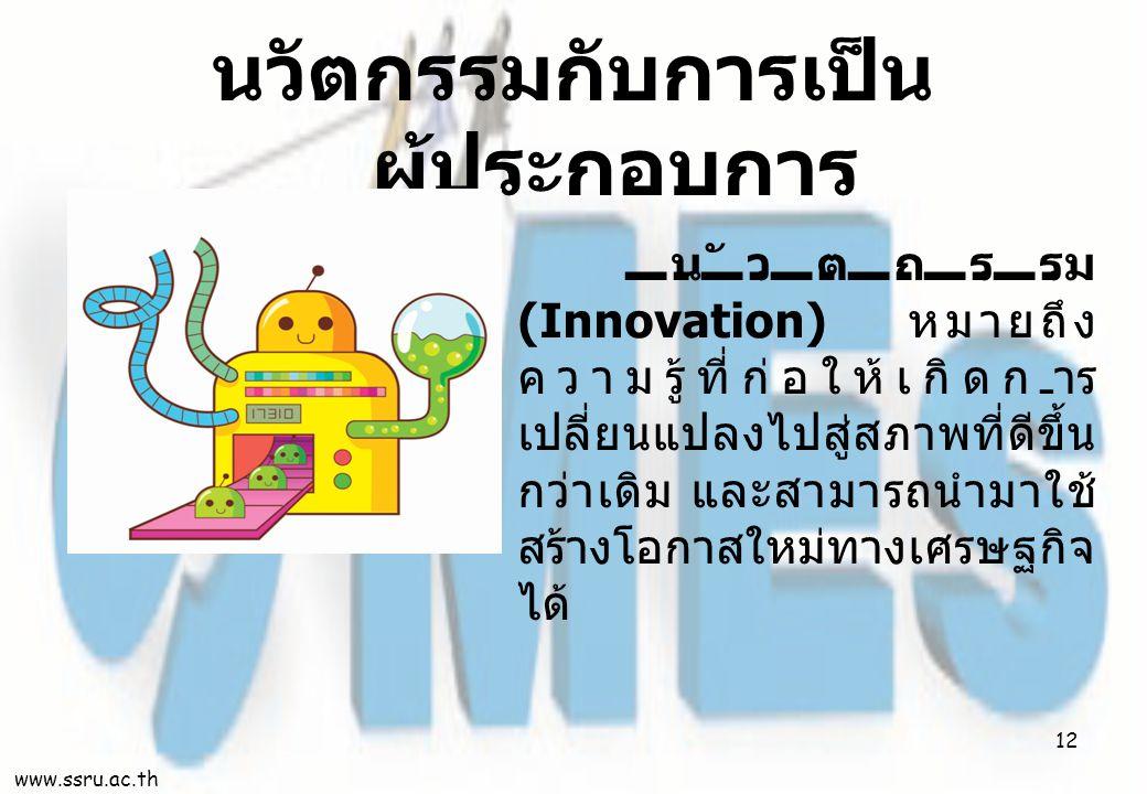 นวัตกรรมกับการเป็นผู้ประกอบการ