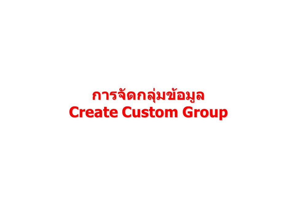 การจัดกลุ่มข้อมูล Create Custom Group