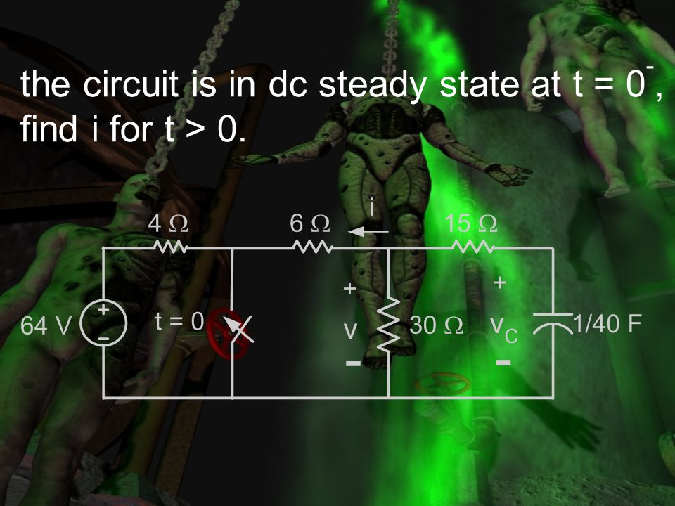 the circuit is in dc steady state at t = 0-,