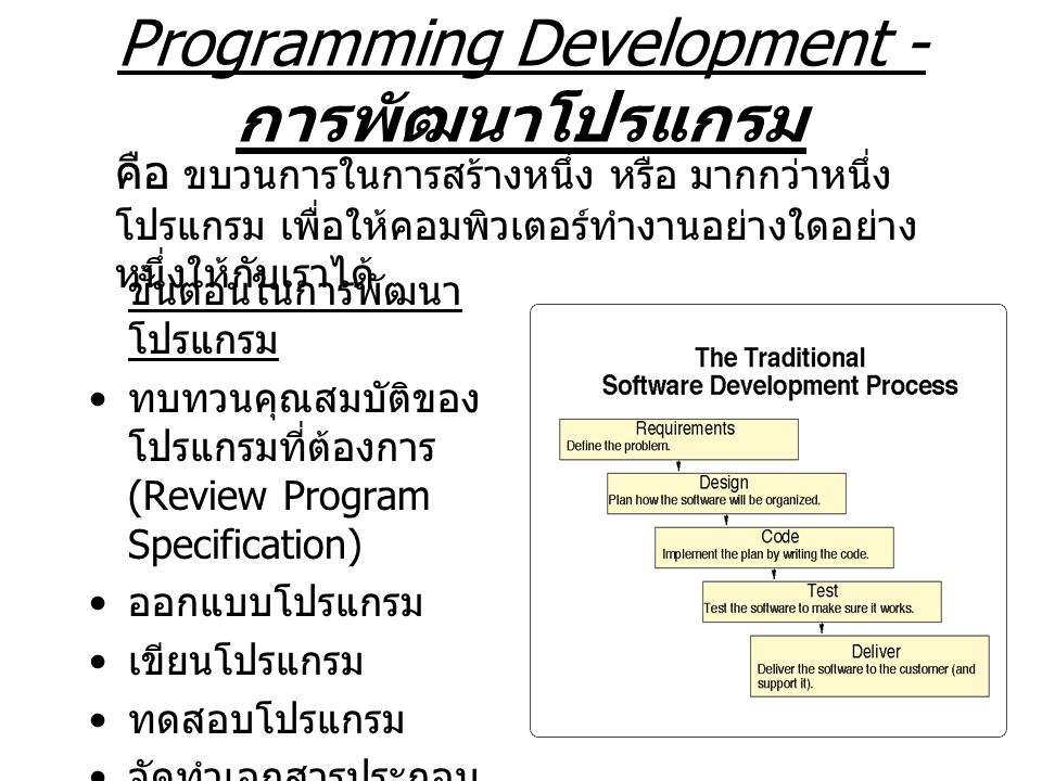 Programming Development - การพัฒนาโปรแกรม