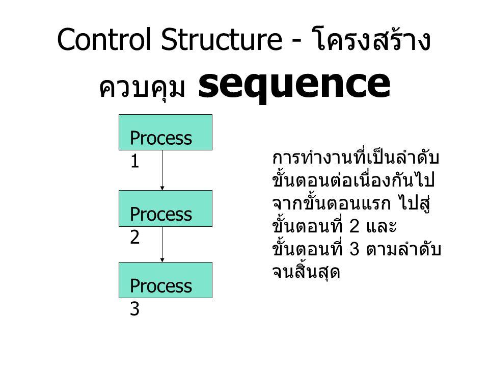 Control Structure - โครงสร้างควบคุม sequence