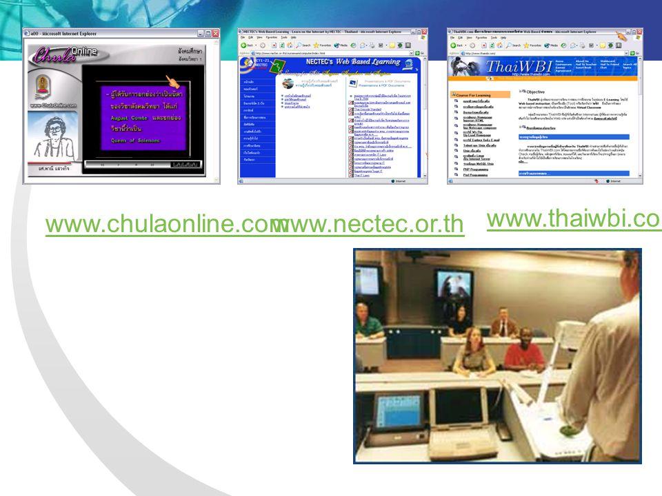 www.thaiwbi.com www.chulaonline.com www.nectec.or.th