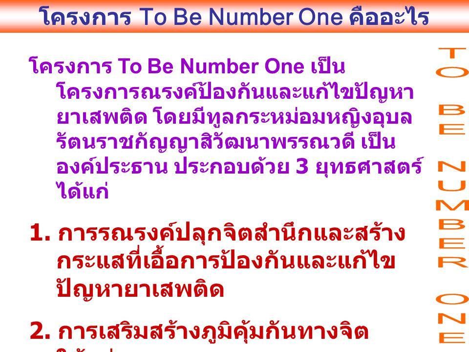 โครงการ To Be Number One คืออะไร