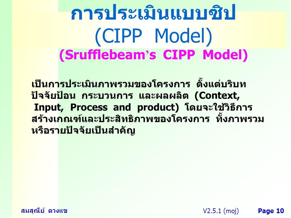 การประเมินแบบซิป (CIPP Model) (Srufflebeam's CIPP Model)