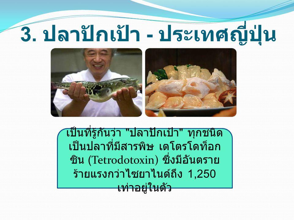 3. ปลาปักเป้า - ประเทศญี่ปุ่น
