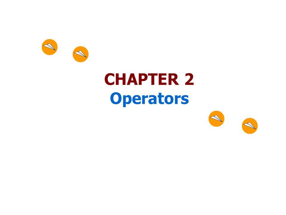 CHAPTER 2 Operators