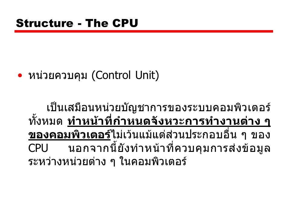 Structure - The CPU หน่วยควบคุม (Control Unit)