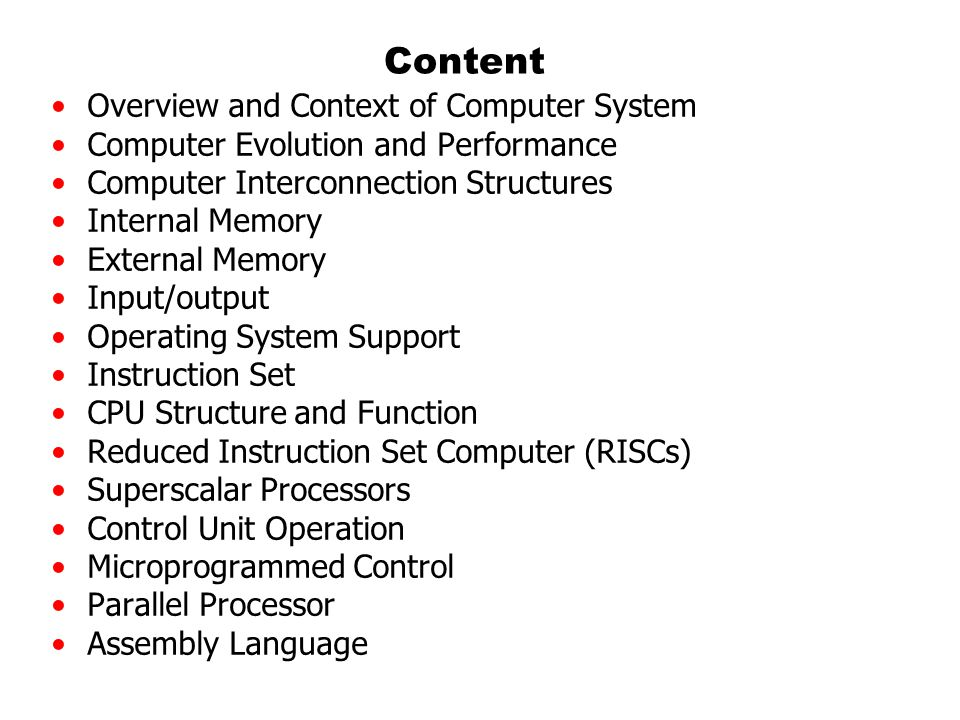 Content Overview and Context of Computer System