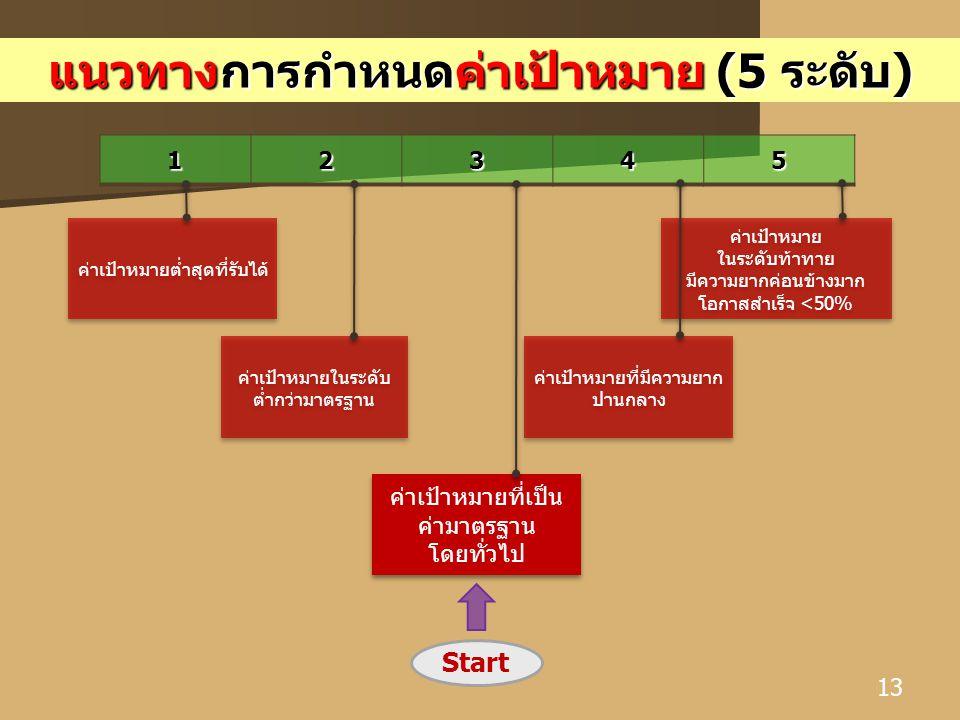 แนวทางการกำหนดค่าเป้าหมาย (5 ระดับ)