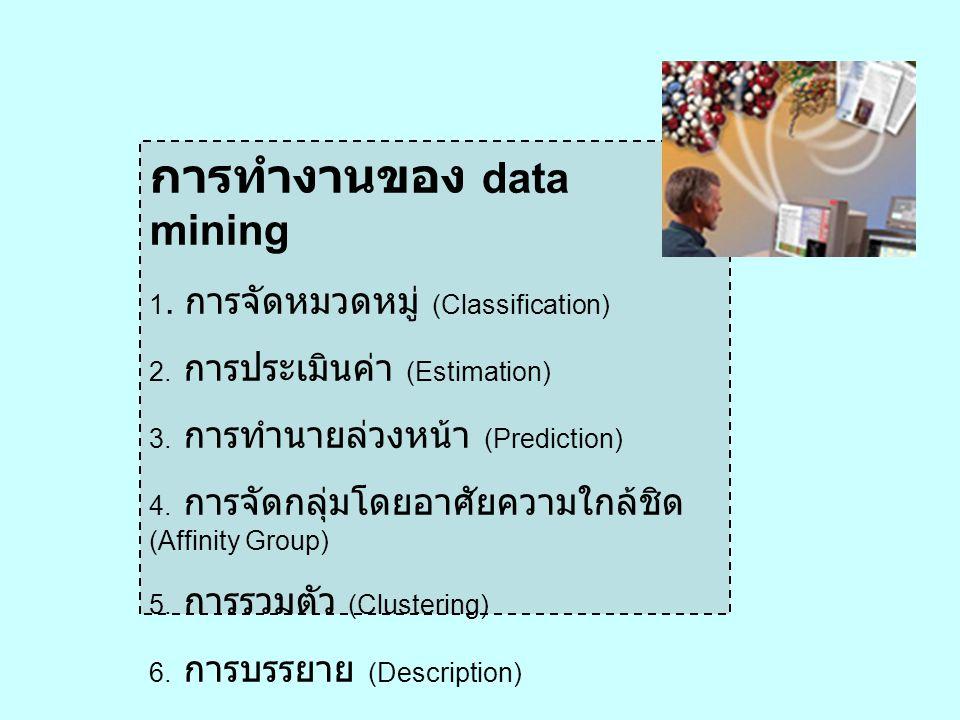 การทำงานของ data mining