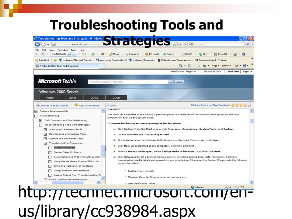 Troubleshooting Tools and Strategies