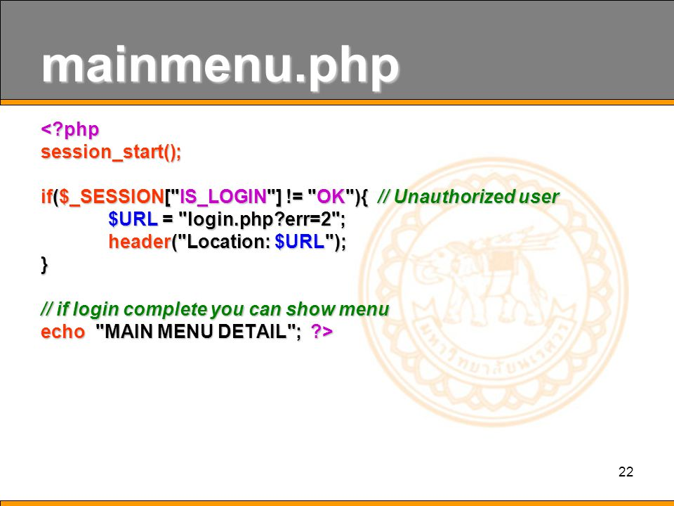 mainmenu.php < php session_start();