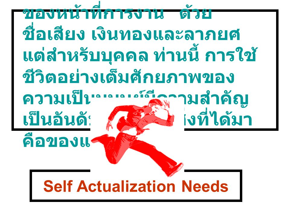 Self Actualization Needs