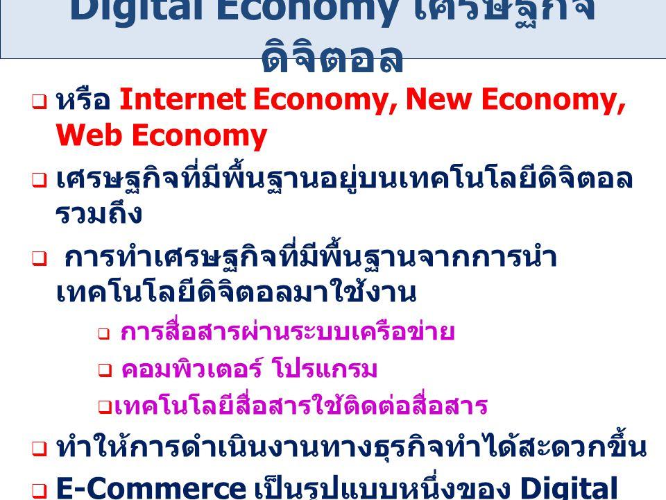 Digital Economy เศรษฐกิจดิจิตอล