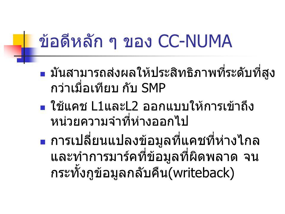 ข้อดีหลัก ๆ ของ CC-NUMA