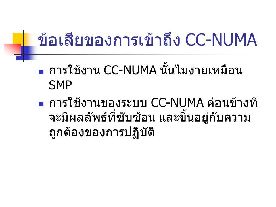 ข้อเสียของการเข้าถึง CC-NUMA