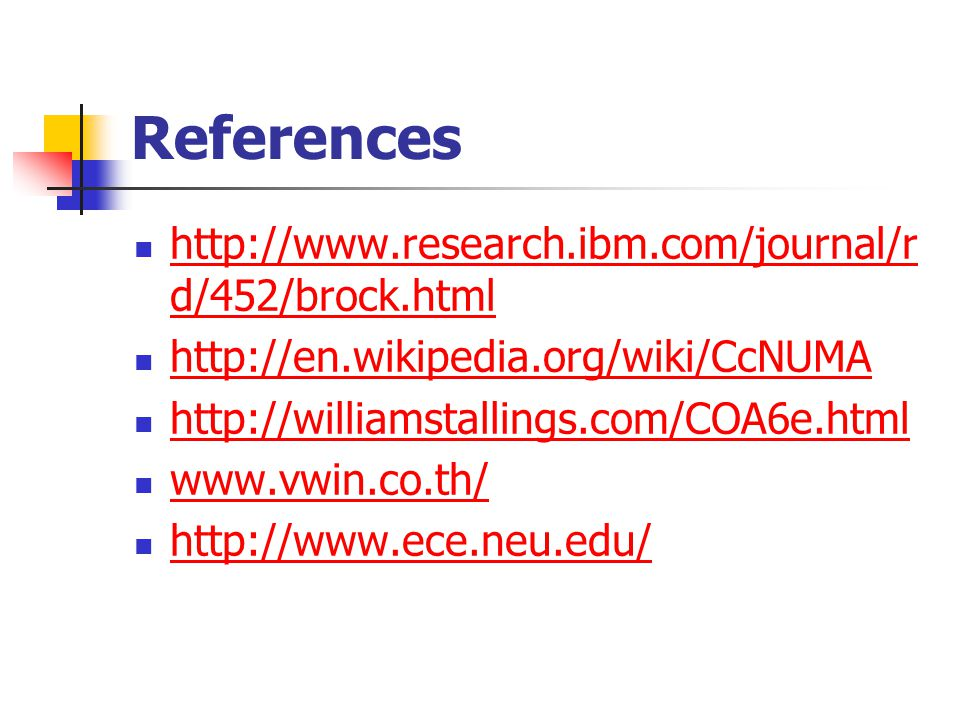 References http://www.research.ibm.com/journal/rd/452/brock.html