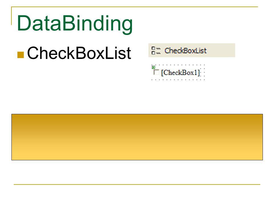 DataBinding CheckBoxList