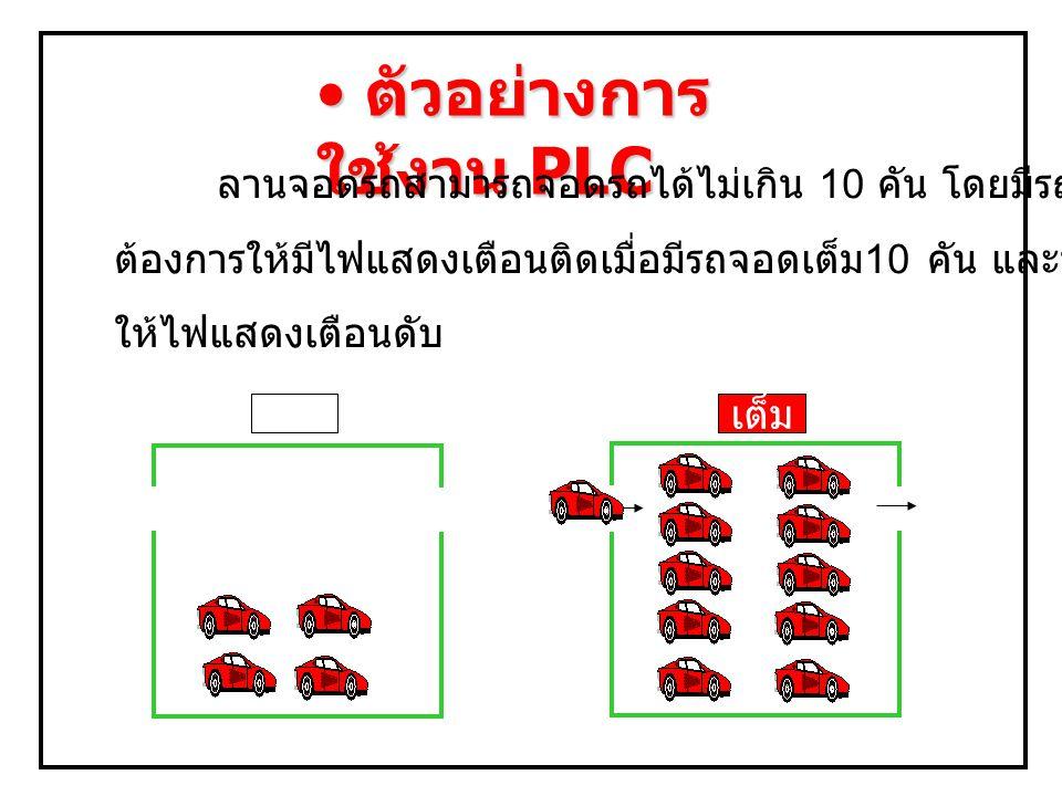 ตัวอย่างการใช้งาน PLC