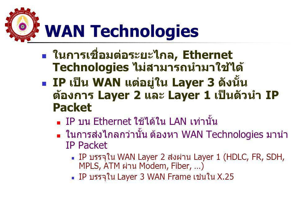 WAN Technologies ในการเชื่อมต่อระยะไกล, Ethernet Technologies ไม่สามารถนำมาใช้ได้