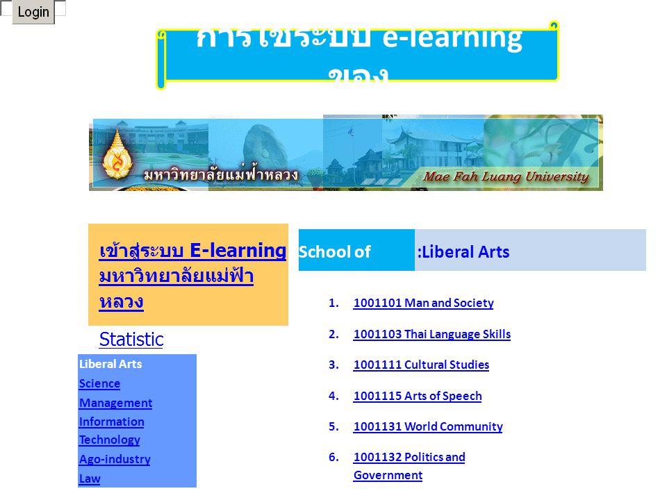 การใช้ระบบ e-learning ของ