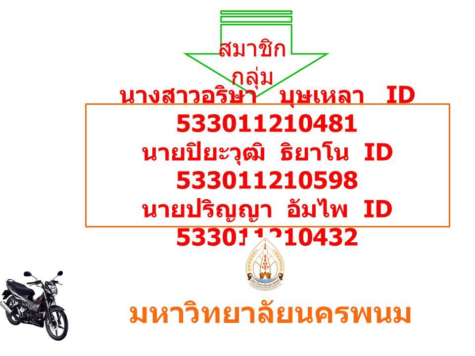 นางสาวอริษา บุษเหลา ID 533011210481
