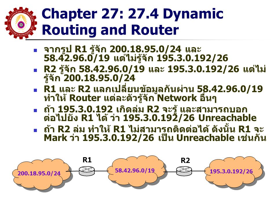 Chapter 27: 27.4 Dynamic Routing and Router
