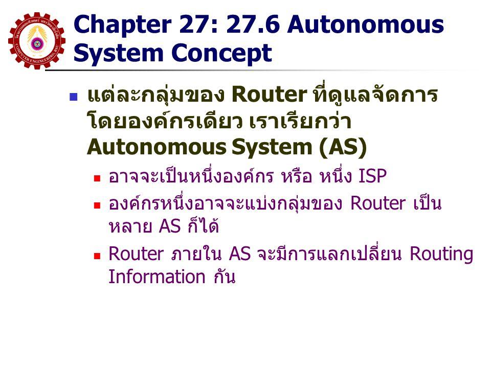 Chapter 27: 27.6 Autonomous System Concept