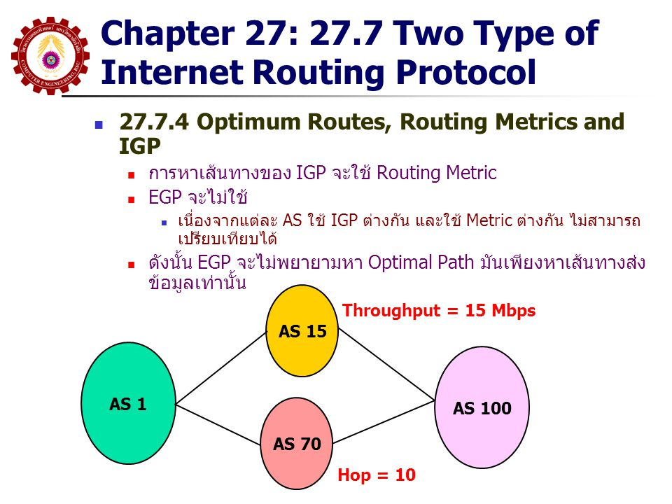 Chapter 27: 27.7 Two Type of Internet Routing Protocol