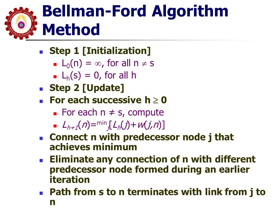 Bellman-Ford Algorithm Method
