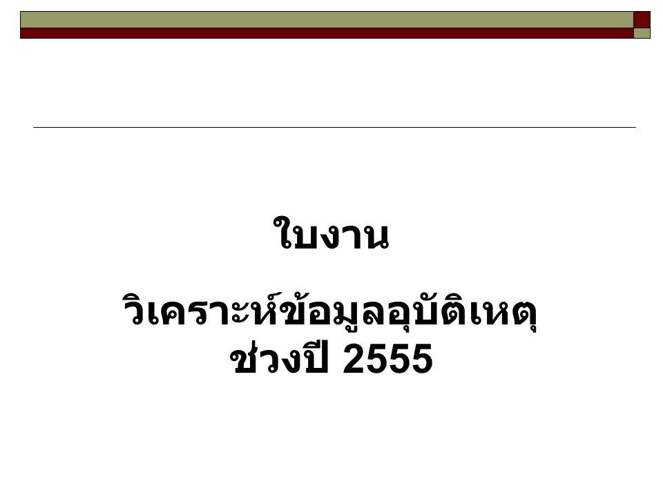 วิเคราะห์ข้อมูลอุบัติเหตุ ช่วงปี 2555