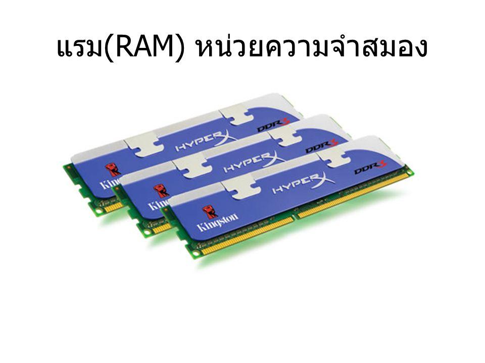 แรม(RAM) หน่วยความจำสมอง