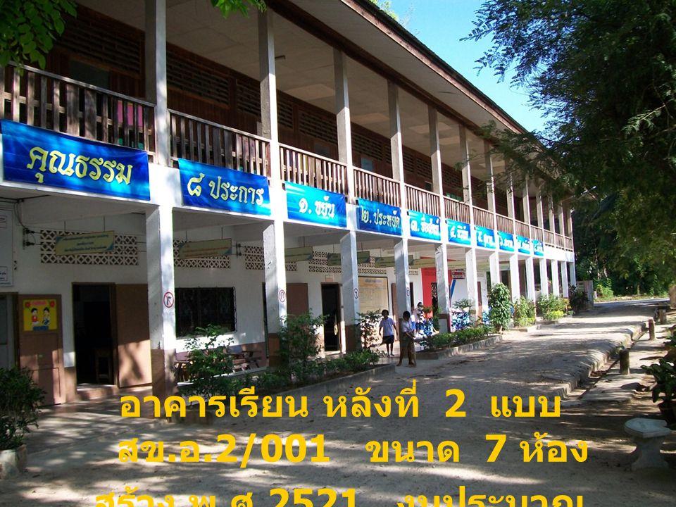 อาคารเรียน หลังที่ 2 แบบ สข.อ.2/001 ขนาด 7 ห้อง
