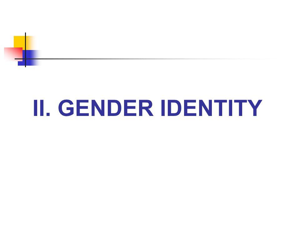 II. gender identity