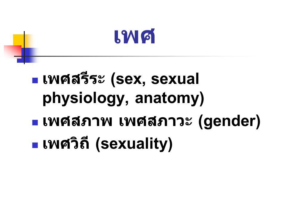 เพศ เพศสรีระ (sex, sexual physiology, anatomy)