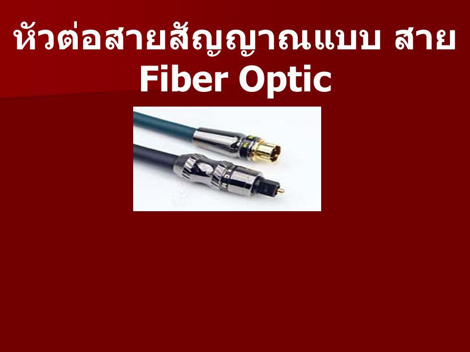 หัวต่อสายสัญญาณแบบ สาย Fiber Optic