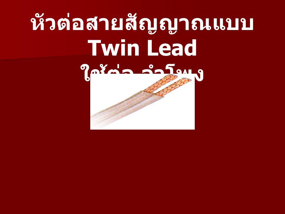 หัวต่อสายสัญญาณแบบ Twin Lead