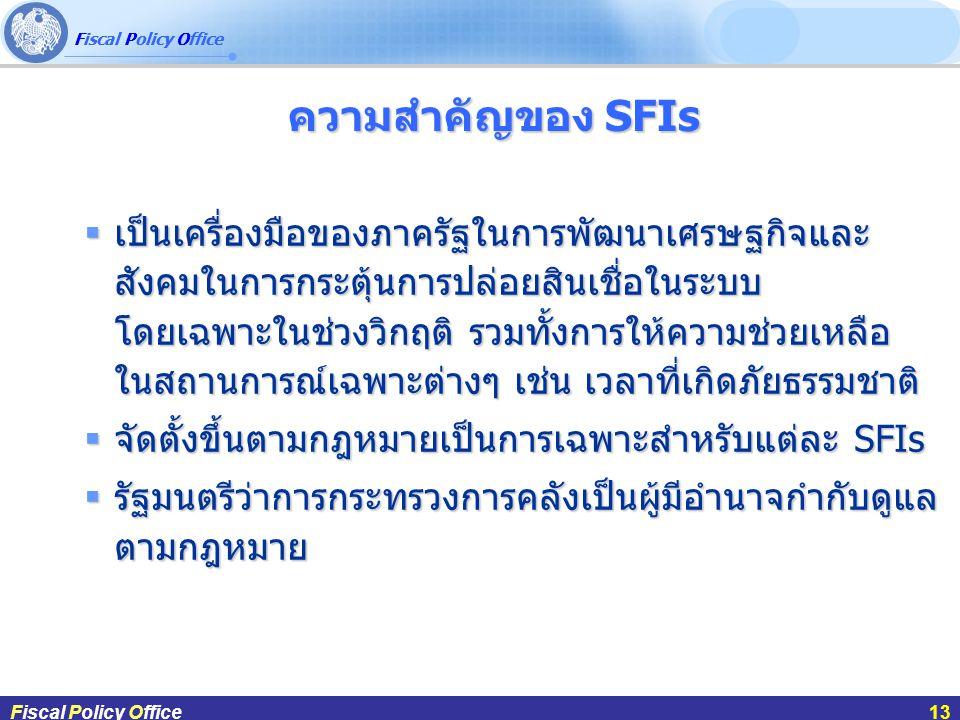 ความสำคัญของ SFIs